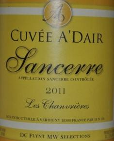 2011 Cuvee A'Dair Sancerre