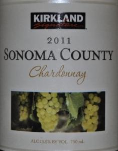 2011 Kirkland Signature Sonoma Chardonnay