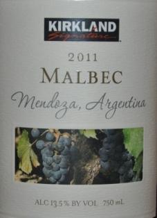 2011 Kirkland Signature Mendoza Malbec