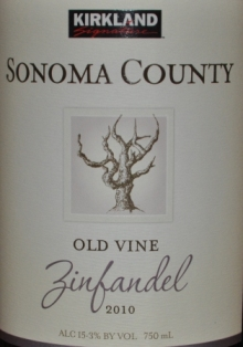 2010 Kirkland Signature Sonoma Old Vine Zinfandel