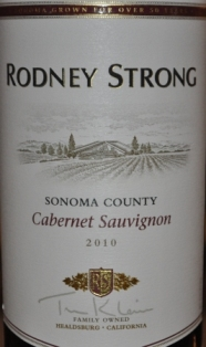 2010 Rodney Strong Sonoma Cabernet Sauvignon