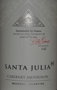 2011 Santa Julia Cabernet Sauvignon Mendoza