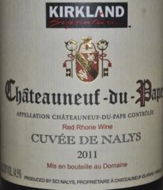 2011 Kirkland Signature Chateauneuf-du-pape
