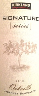 2010 Kirkland Signature Cabernet Sauvignon Oakville