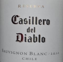 2012 Concha y Toro Casillero del Diablo Sauvignon Blanc