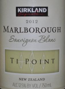 2012 Kirkland Signature Ti Point Marlborough Sauvignon Blanc