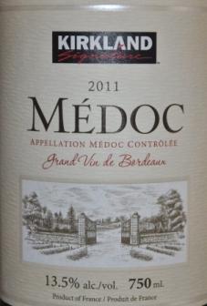 2011 Kirkland Signature Medoc Bordeaux