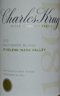 2012 Charles Krug Sauvignon Blanc Napa Valley
