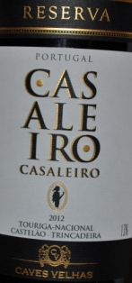 2012 Casaleiro Reserva Vinho Regional Tejo Portugal