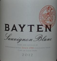 2012 Buitenverwachting Bayten Sauvignon Blanc Constantia
