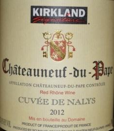 2012 Kirkland Signature Chateauneuf du Pape