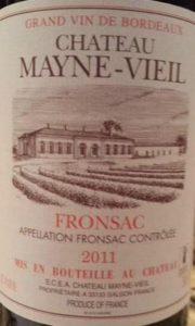 2011 Château Mayne-Vieil Fronsac