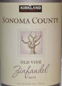 2013 Kirkland Signature Sonoma County Old Vine Zinfandel