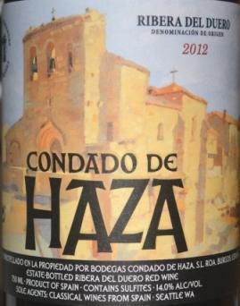 2012 Condado de Haza Ribera del Duero