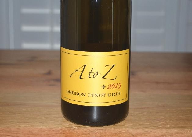 2015 A To Z Oregon Pinot Gris