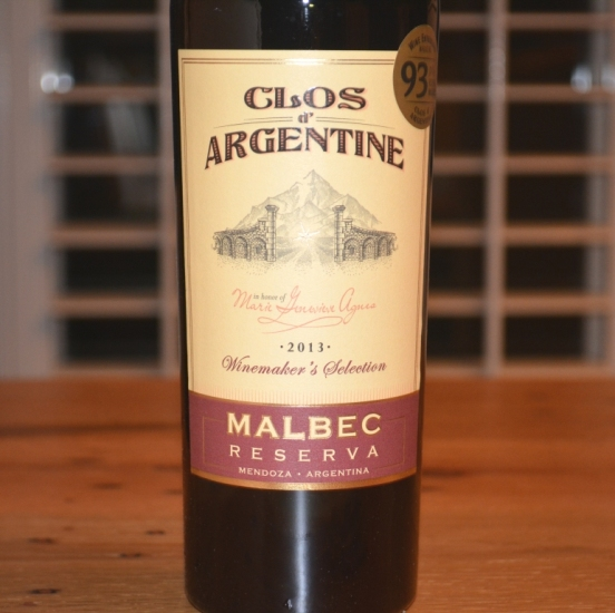 2013 Clos d'Argentine Malbec Reserva Winemaker's Selection