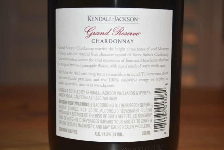 2016 Kendall Jackson Grand Reserve Chardonnay