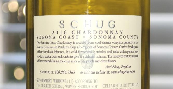 Schug Chardonnay Sonoma Coast