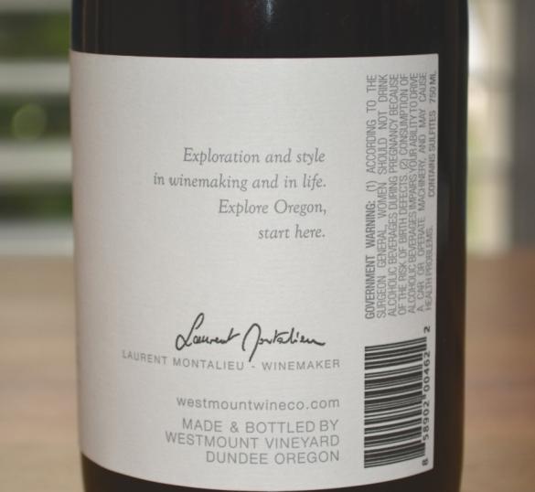 2015 Westmount Willamette Valley Pinot Noir