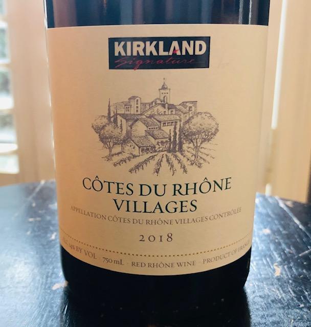 2018 Kirkland Signature Cotes du Rhone Villages