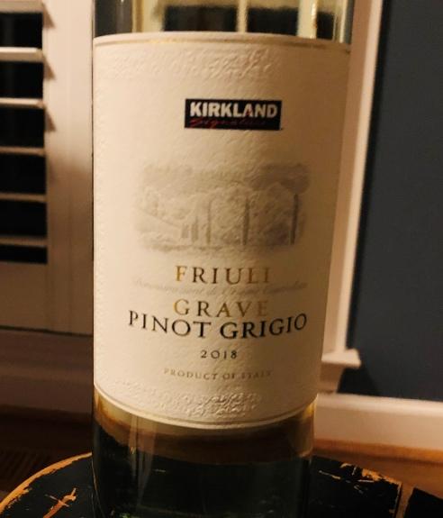 2018 Kirkland Signature Pinot Grigio Friuli