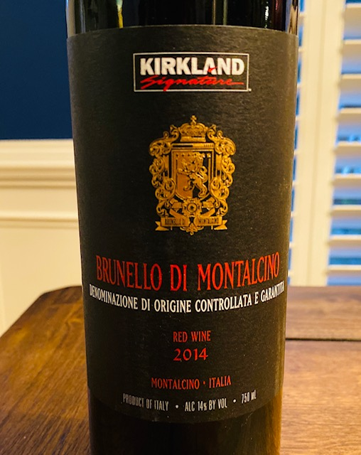 2014 Kirkland Signature Series Brunello di Montalcino