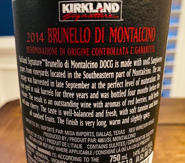 Kirkland Brunello