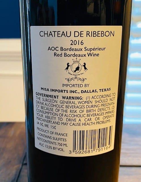 Chateau de Ribebon Bordeaux