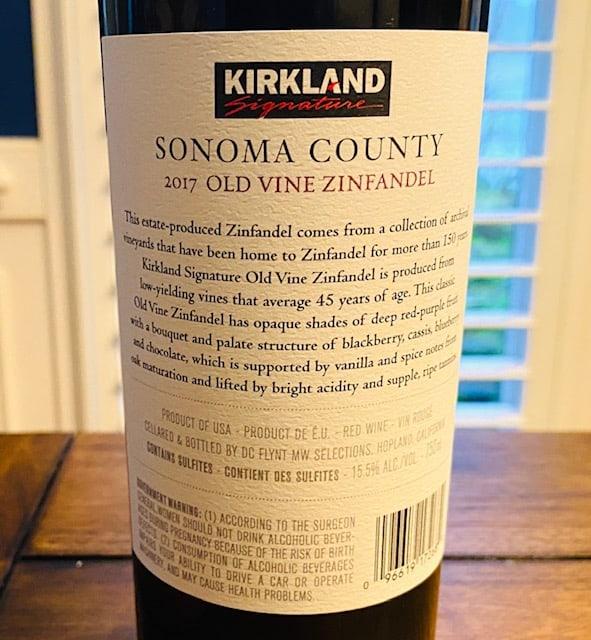 Kirkland Sonoma Zinfandel