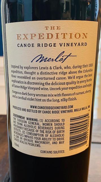 Canoe Ridge Expedition Merlot