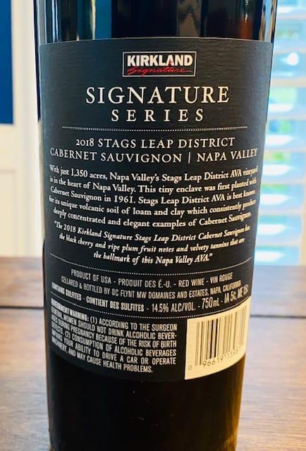 Kirkland Signature Stags Leap Cabernet