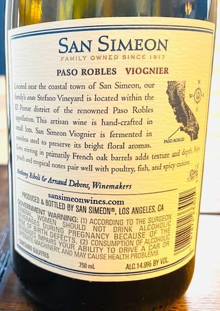 San Simeon Viognier