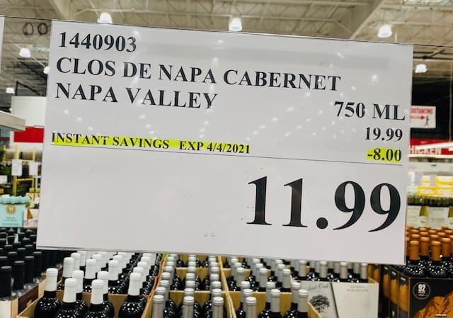Clos de Napa Cabernet Sauvignon