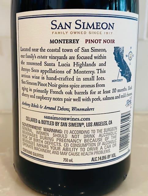 San Simeon Pinot Noir